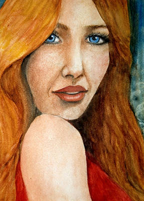 Painting - Redhead In October by Barbara J Blaisdell