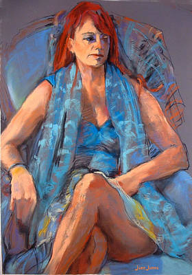 Painting - Redhead by Joan  Jones