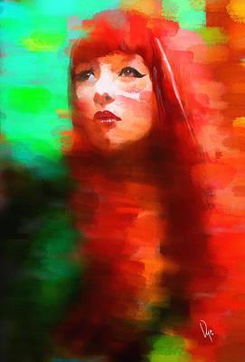 Redhead Painting - Redhead by Vya Artist