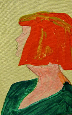 Painting - Redhead With An Attitude by Carole Johnson