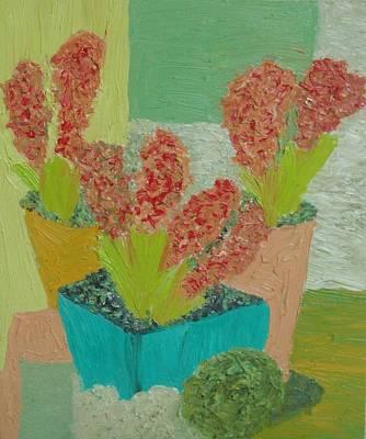 Redheaded Flowers Original by George Monanuli
