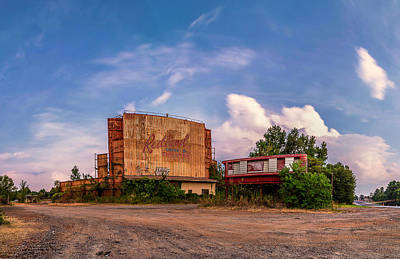 Photograph - Redland Theater Long Exposure Panorama  by Micah Goff
