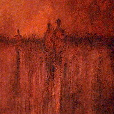 Painting - Redmen by Buck Buchheister