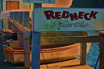 Redneck Yacht Club Art Print by Helen Carson