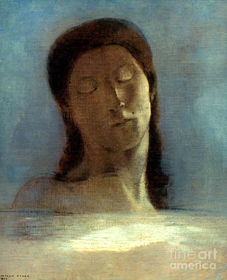 Photograph - Redon: Closed Eyes, 1890 by Granger