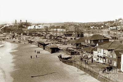 Photograph - Redondo Beach After A Big Winter Storm Of January 31, 1915 by California Views Mr Pat Hathaway Archives