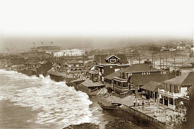 Photograph - Redondo Beach Damaged By Winter Storm. January 31, 1915 by California Views Mr Pat Hathaway Archives