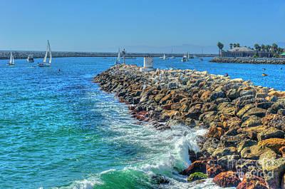 Photograph - Redondo Beach Jetty by David Zanzinger
