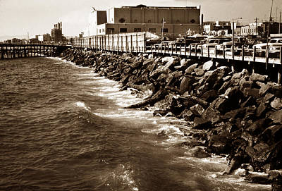 Photograph - Redondo Beach Pier 1957 Sepia by Marilyn Hunt