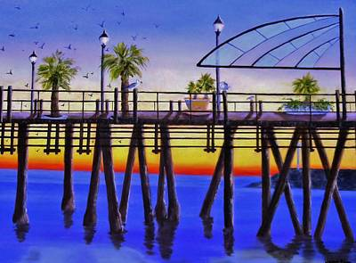 Redondo Beach Pier Wall Art - Painting - Redondo Beach Pier by Jamie Frier