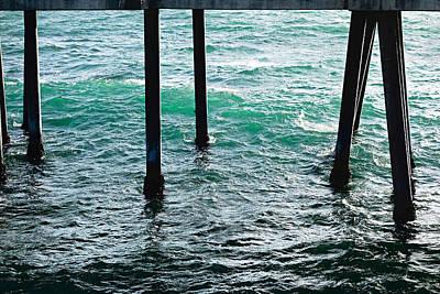 Redondo Beach Pier Wall Art - Photograph - Redondo Beach Pier Legs by Robert Meyers-Lussier