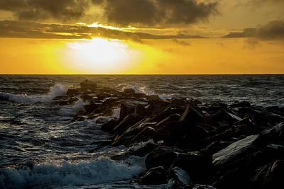 Photograph - Redondo Beach Sunset 2 by Ed Clark