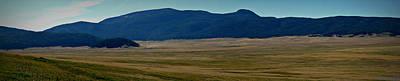 Redondo Peak Over The Caldera Panoramic Print by Aaron Burrows