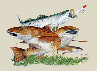 Painting - Reds And Trout by Kevin Brant