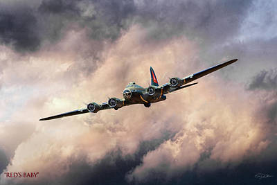 B-17 Wall Art - Digital Art - Red's Baby by Peter Chilelli