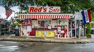 Local Food Digital Art - Red's Eats by Jerry Fornarotto