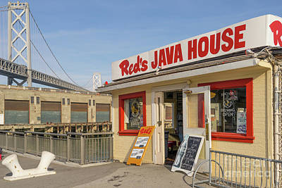 Reds Java House And The Bay Bridge At San Francisco Embarcadero Dsc5761 Art Print