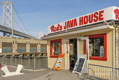 Photograph - Reds Java House And The Bay Bridge At San Francisco Embarcadero Dsc5761 by Wingsdomain Art and Photography