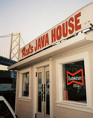 Photograph - Red's Java House With Bay Bridge by Frank DiMarco