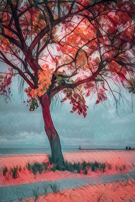 Photograph - Reds Of Autumn Painting by Debra and Dave Vanderlaan