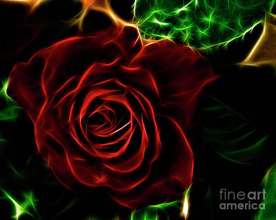 Digital Art - Red's Passion by Samantha Guindon