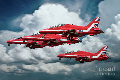 Red Tail Hawk Digital Art - Reds Take Off by J Biggadike