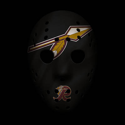 Redskins War Mask 2 Art Print