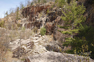 North Conway Photograph - Redstone Granite Quarry - Conway New Hampshire by Erin Paul Donovan