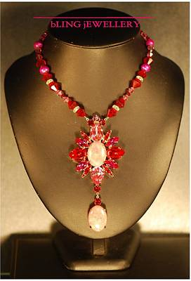 Howlite Jewelry - Reduced - The Scarlet Necklace by Janine Antulov