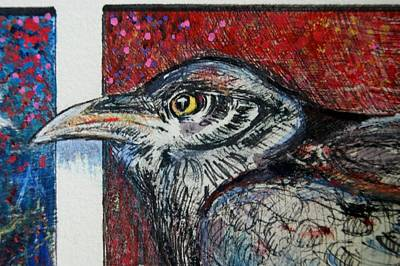 Red,white ,blue Art Print by Susan Brown    Slizys art signature name