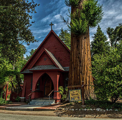 Photograph - Redwood Church by Bill Posner