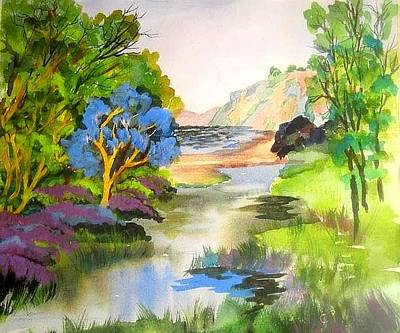 Painting - Redwood Creek  by Esther Woods