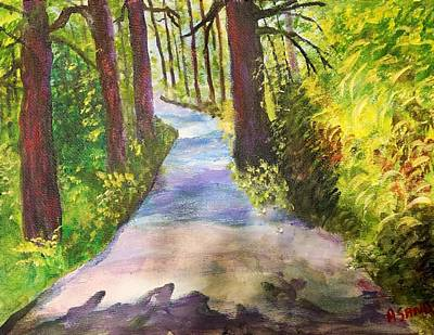 Painting - Redwood Forrest by Anne Sands