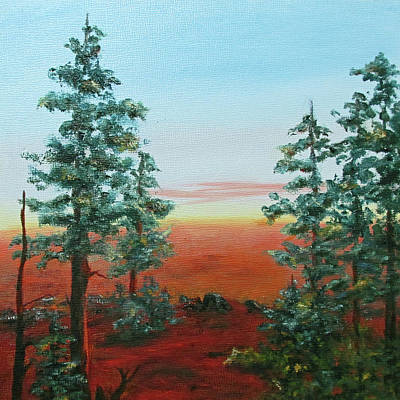 Painting - Redwood Overlook by Roseann Gilmore