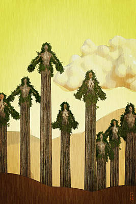 Digital Art - Redwood People by Matt Lindley