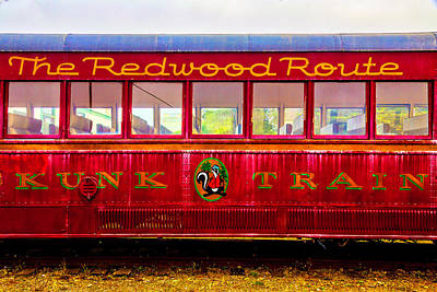 Mural Photograph - Redwood Route Coach Car by Garry Gay