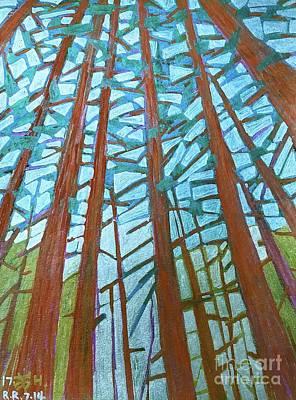 Painting - Redwood Trees by Wonju Hulse