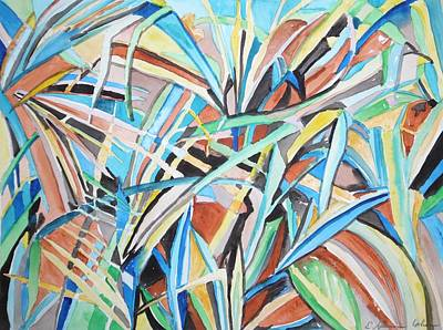 Painting - Reed Abstraction by Esther Newman-Cohen