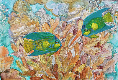 Painting - Reef And Ink Redux by Patricia Beebe