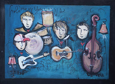 Painting - Reed Foehl Band by Laurie Maves ART