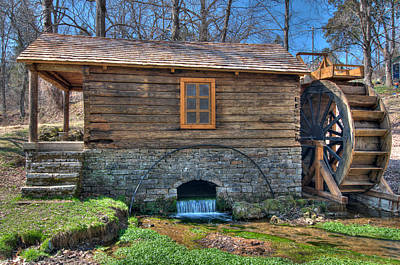 Photograph - Reed Spring Mill by Steve Stuller