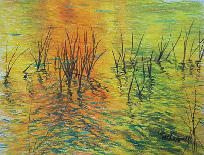 Painting - Reeds II by Becky Chappell