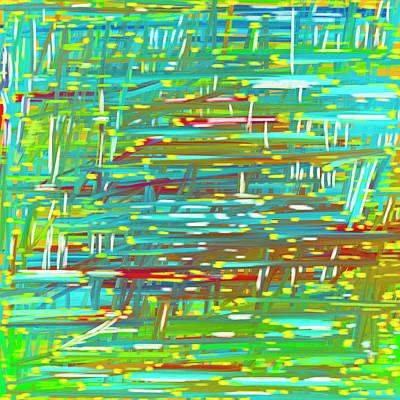 Reedy Pond Art Print by Frank Tschakert
