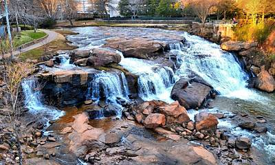 Photograph - Reedy River Falls by James Potts