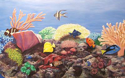 Reef Aquarium Portrait Original by Catalina Decaire