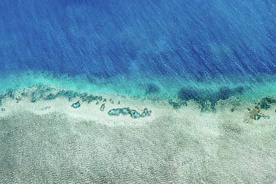 Helicopter Photograph - Reef Barrier by Az Jackson
