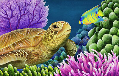 Caribbean Sea Painting - Reef Buddies by Carolyn Steele
