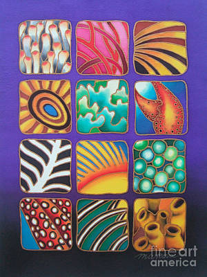 Painting - Reef Designs Ix by Maria Rova