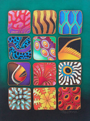 Painting - Reef Designs Viii by Maria Rova