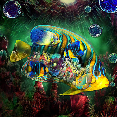 Digital Art - Reef Fish Fantasy Art by Artful Oasis
